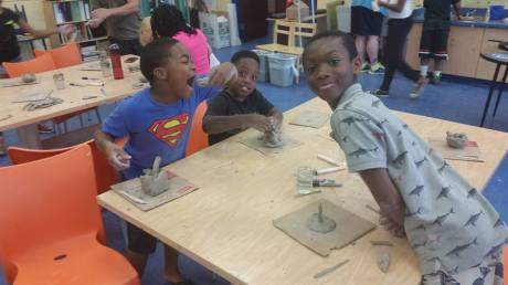 Some fun and clay work by the boys!
